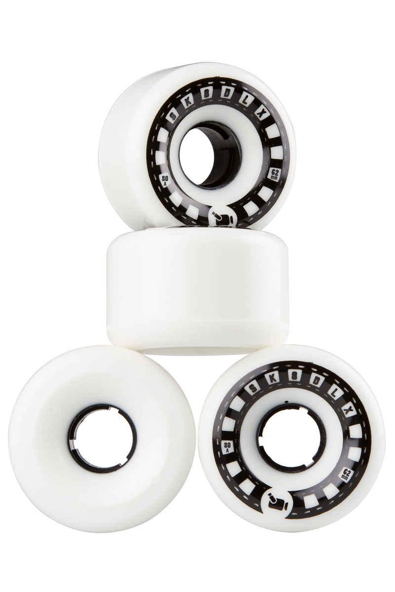 SK8DLX VHX Cruiser Series Wheels (white black) 4 Pack 62mm 80A