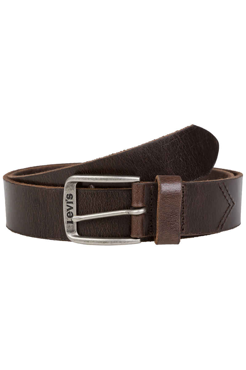 Levi's Classic Top Logo Buckle Belt (dark brown)