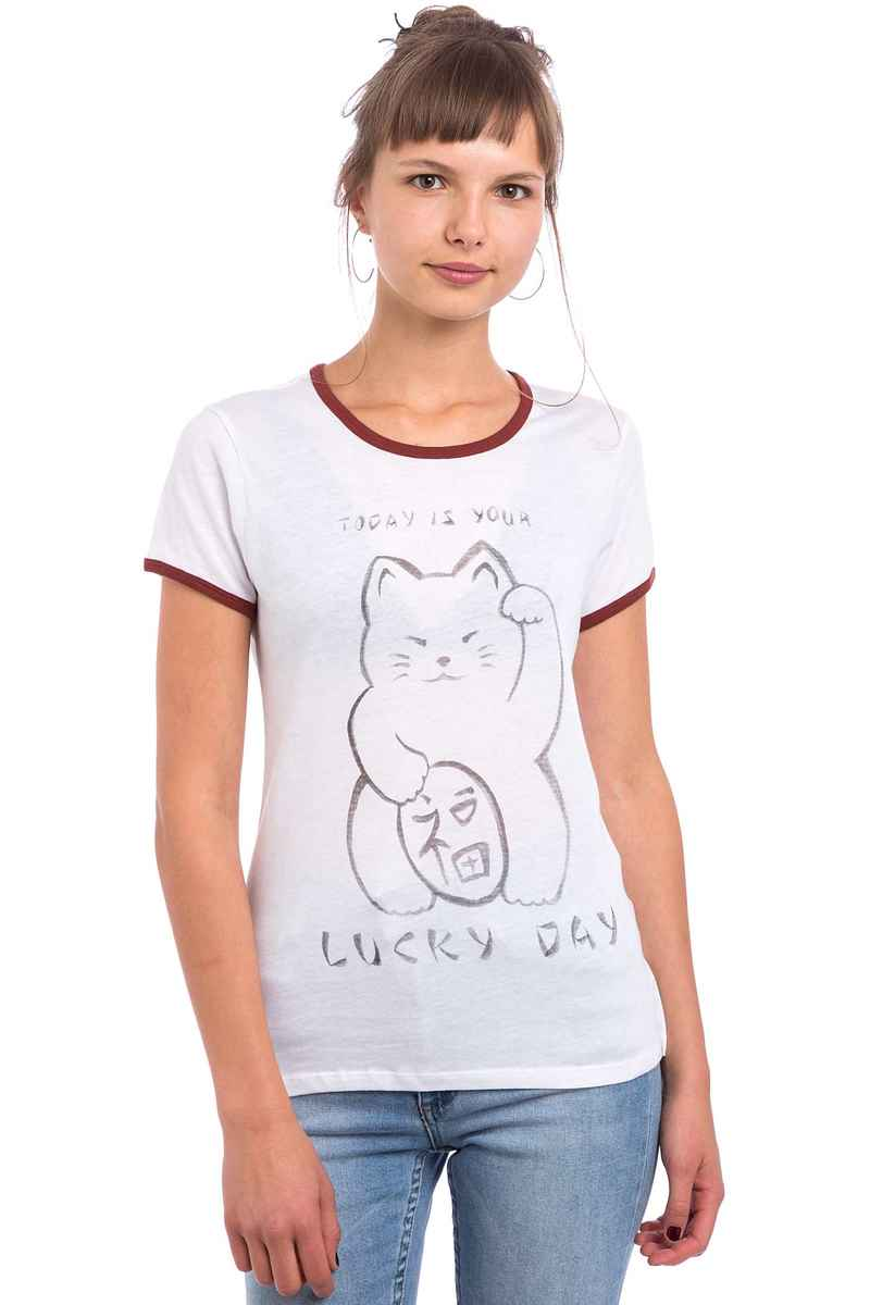 Element Lucky Cat T-Shirt women (white)