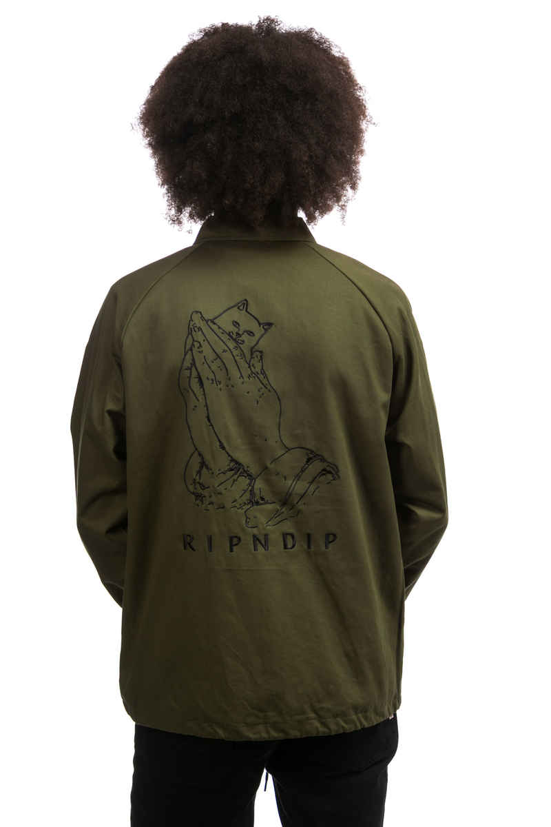 RIPNDIP Praying Hands Veste (olive)
