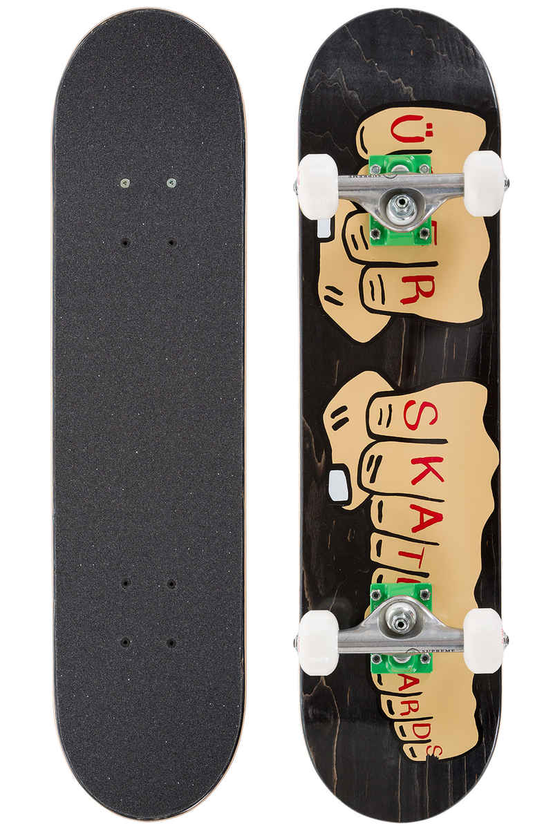 "Über Skateboards Knuckleduster 6.75"" Komplettboard kids (black)"
