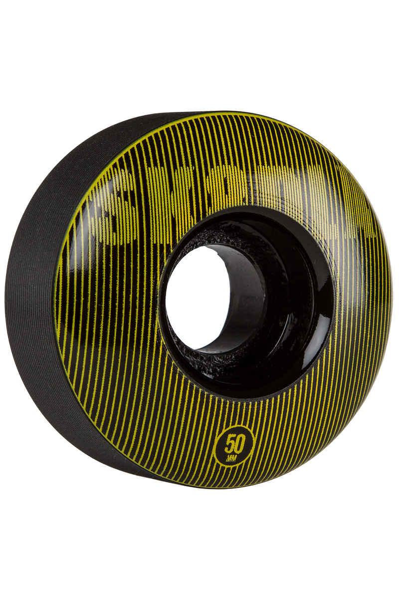 SK8DLX Stripe Series Wheels (black yellow) 50mm 100A 4 Pack