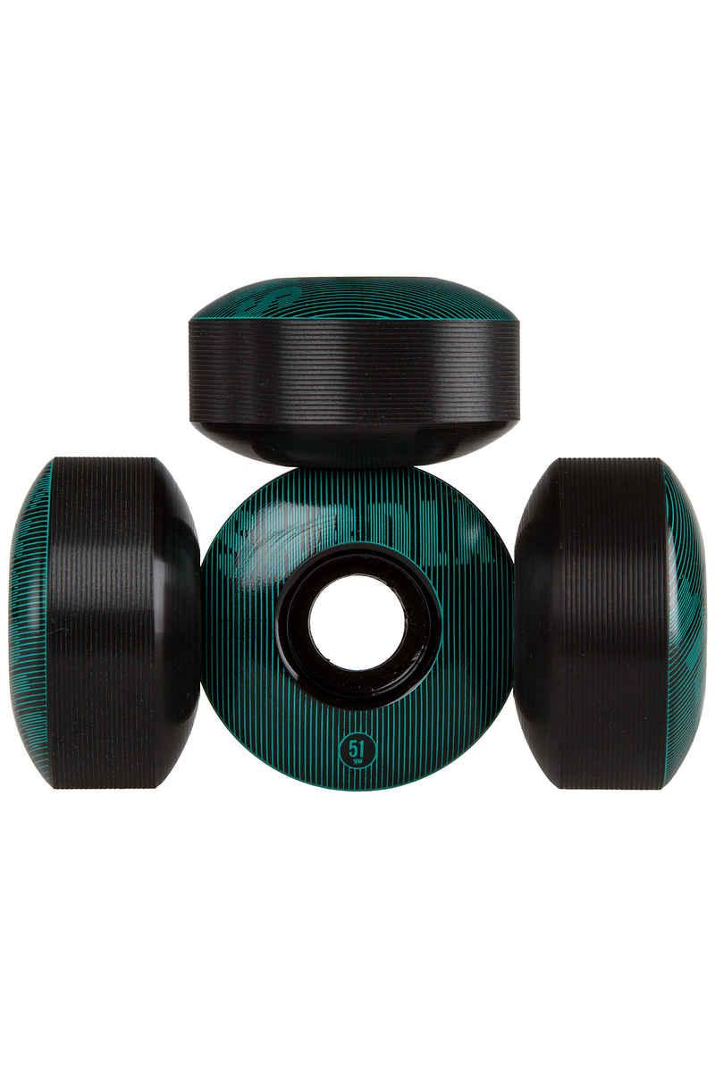SK8DLX Stripe Series 51mm Rollen (black turquoise) 4er Pack