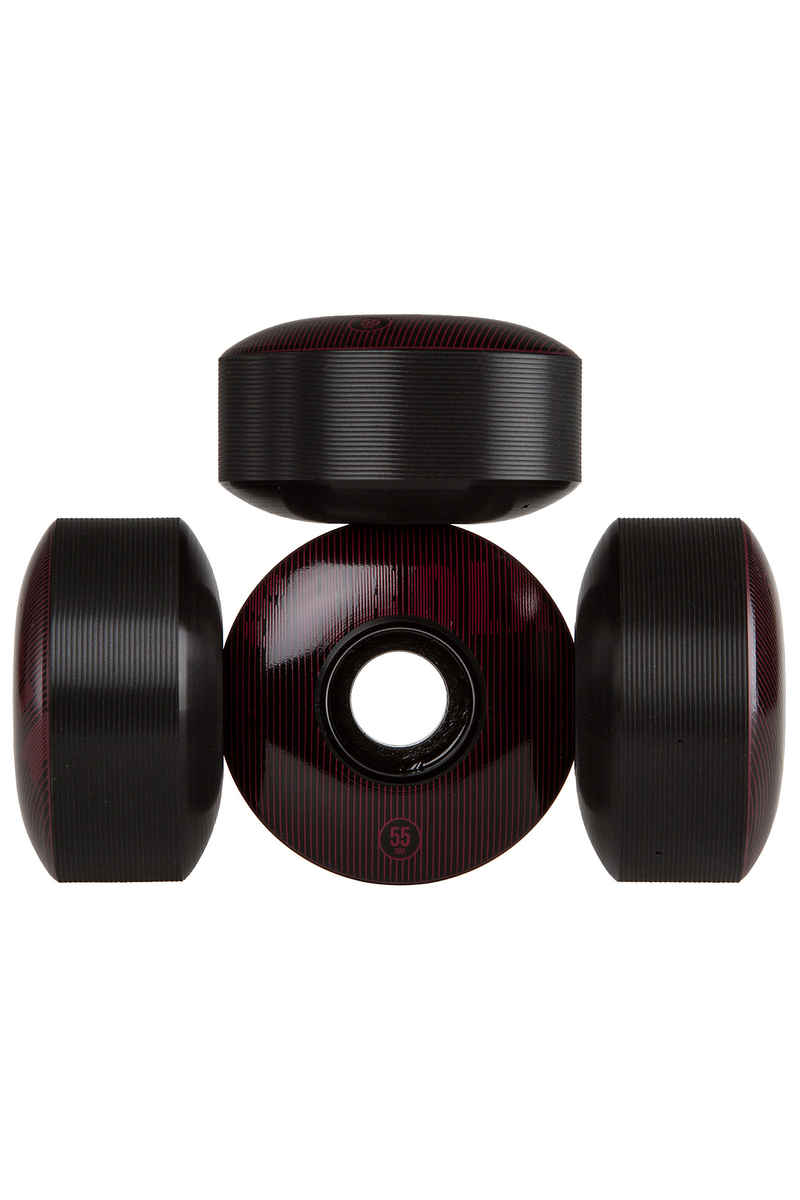 SK8DLX Stripe Series Rollen (black bordeaux) 55mm 100A 4er Pack