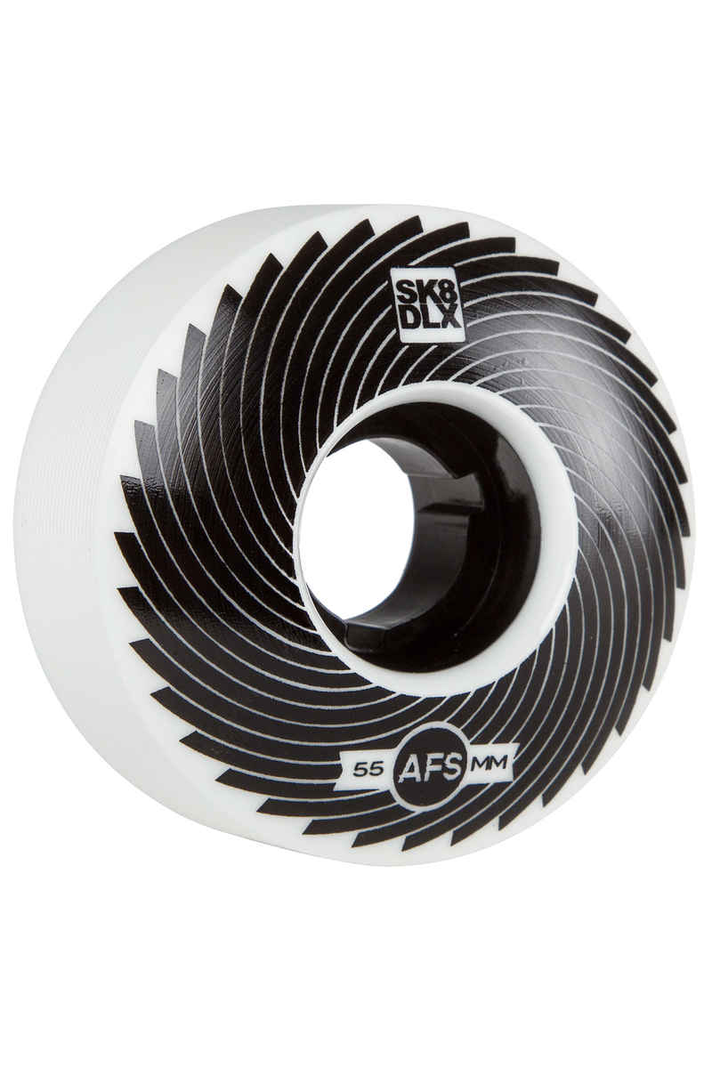 SK8DLX AFS Turbo Series Roue (white black) 55mm 100A 4 Pack
