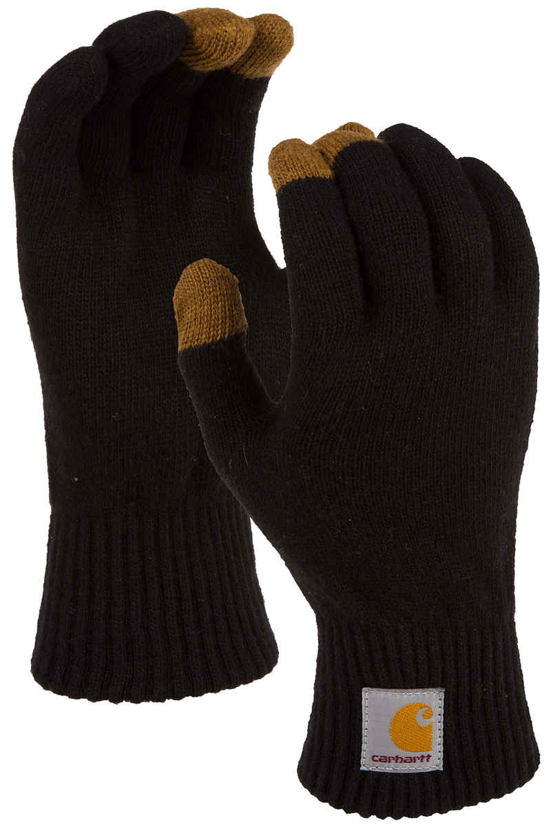 Carhartt WIP Touch Screen Handschuhe (black hamilton brown)