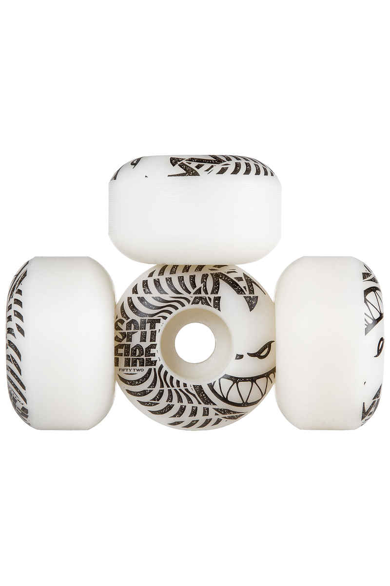 Spitfire Low Downs 52mm Wheels (white) 4 Pack