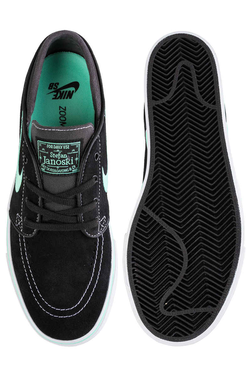 Nike SB Zoom Stefan Janoski Shoes (black green glow)