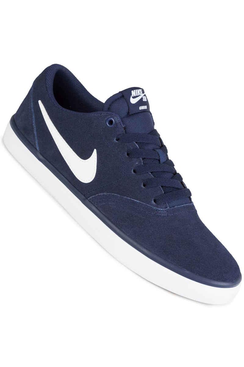Nike SB Check Solarsoft Shoes (midnight navy white)