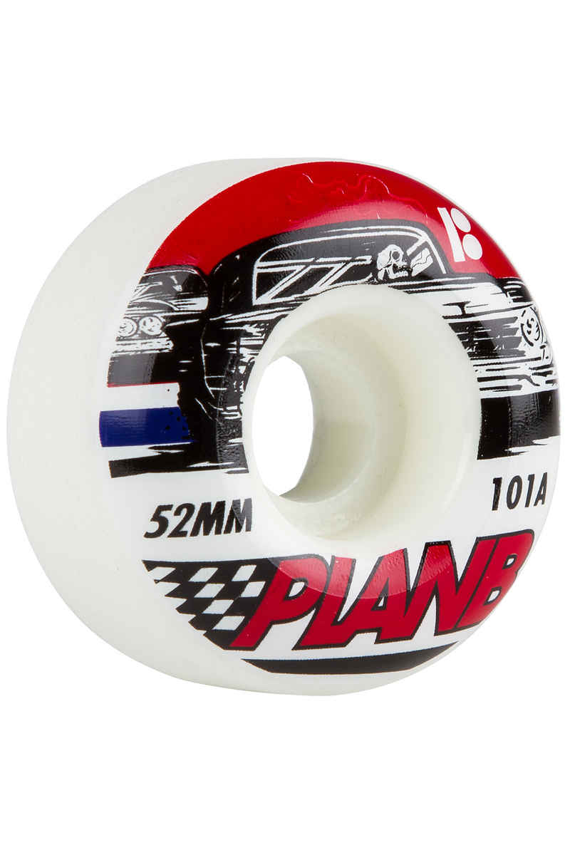 Plan B Team Racer 52mm Roue (white) 4 Pack