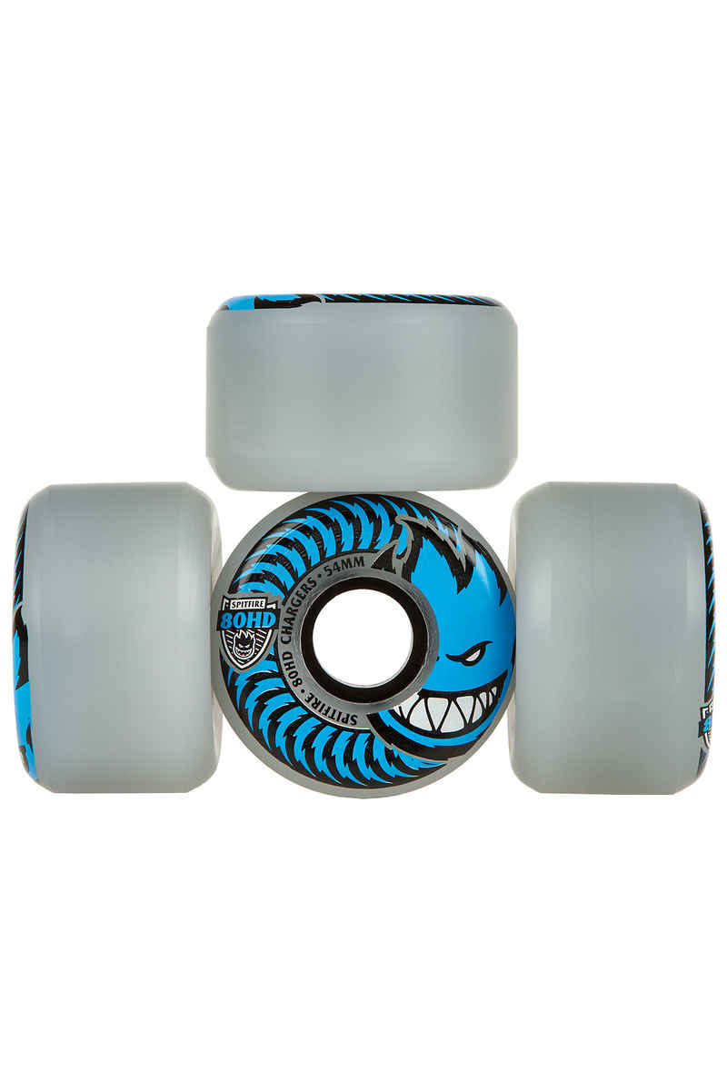 Spitfire Charger Conical Wheels (clear) 54mm 4 Pack 80A