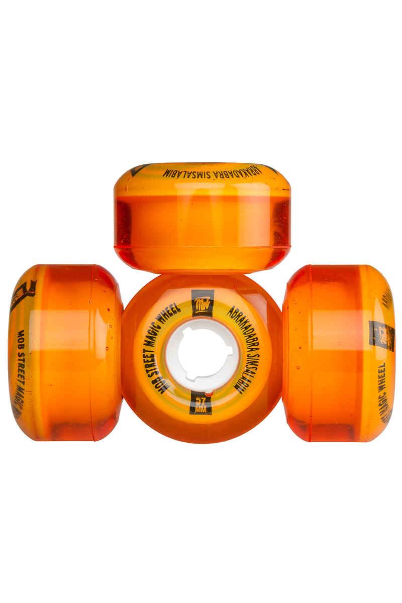 MOB Skateboards Street Magic Rollen (clear orange) 57mm 4er Pack 78A