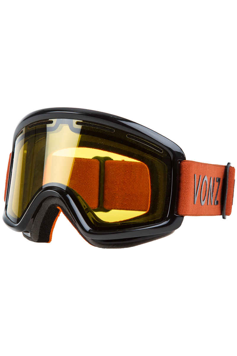 VonZipper Beefy Project Flatlight Goggles (black gloss burnt orange)