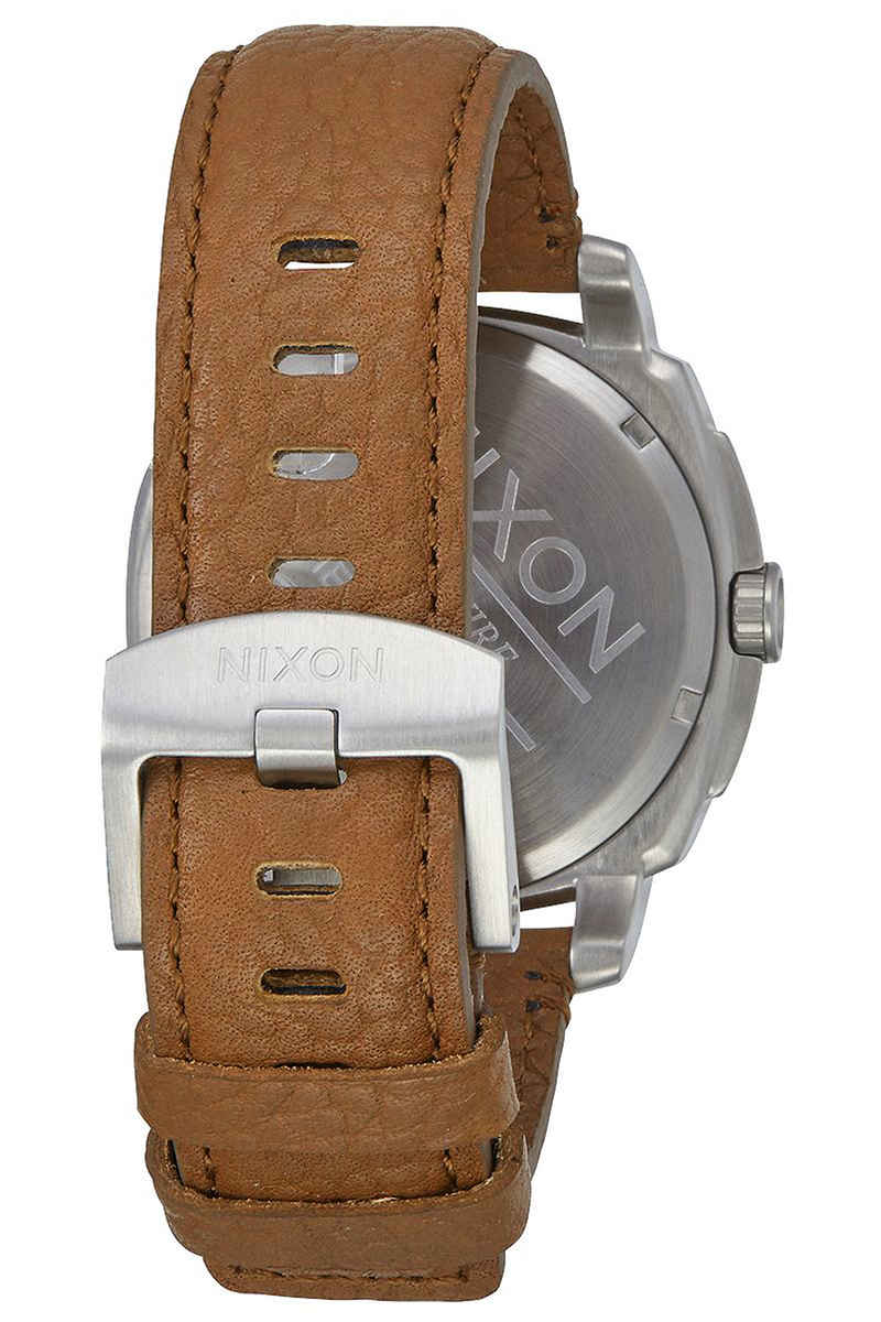 Nixon The Charger Leather Montre (black saddle)