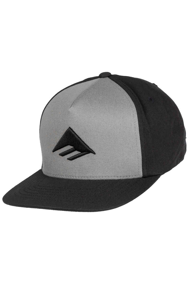 Emerica Traingle Snapback Gorra (grey black)