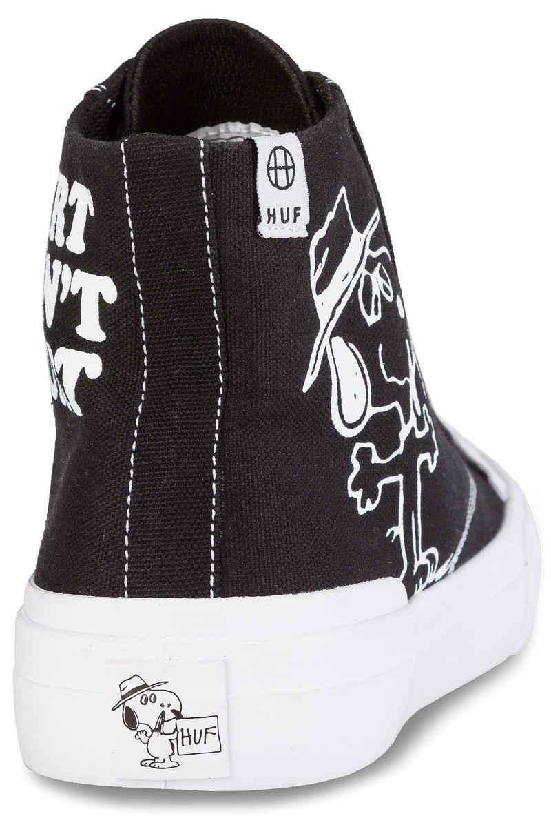 HUF x Peanuts Classic Hi Shoes (black white)