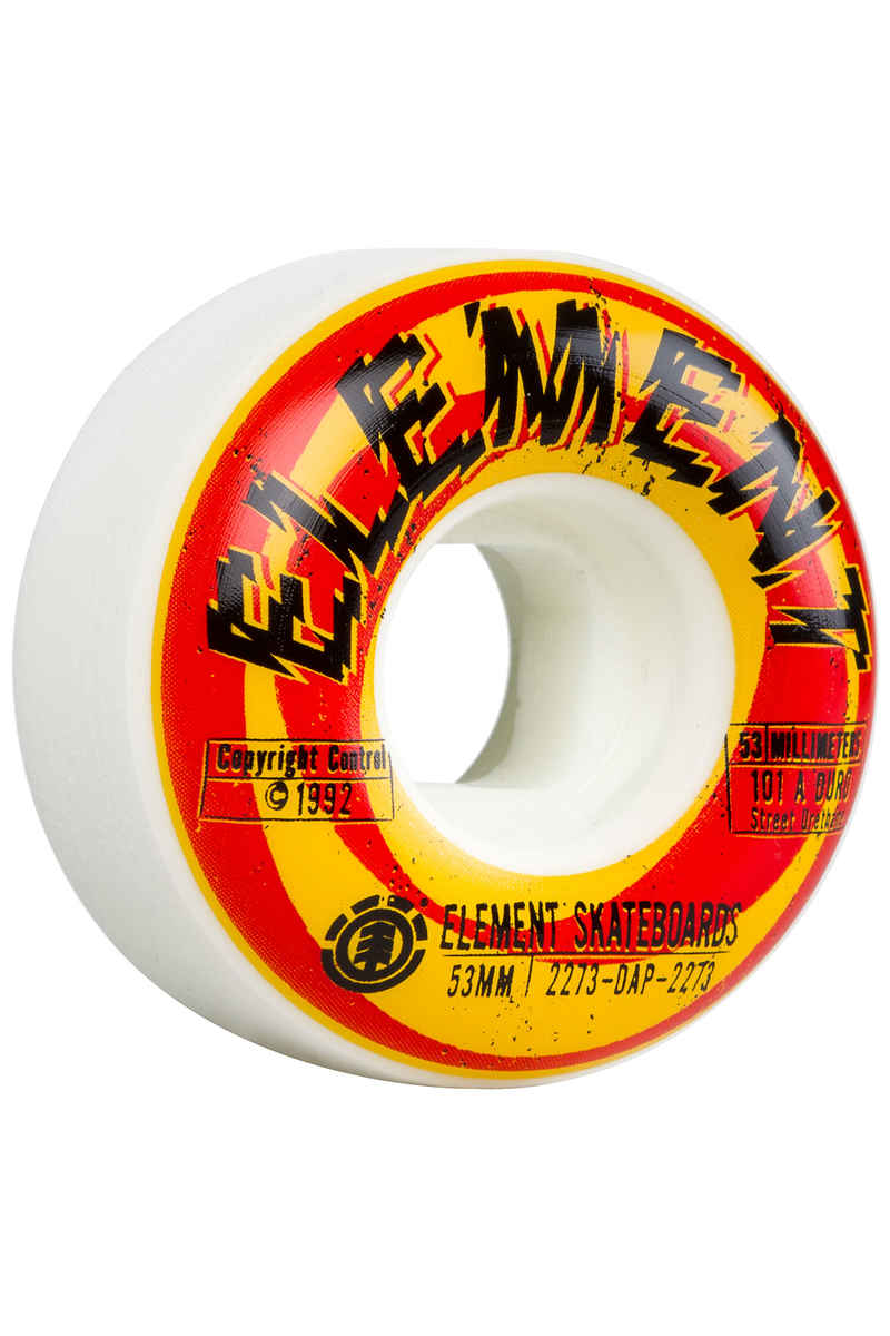 Element Shocked Rueda (multi) 53mm 101A Pack de 4