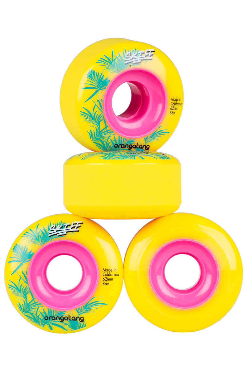 Orangatang Skiff Rollen (yellow) 4er Pack 62mm 86A