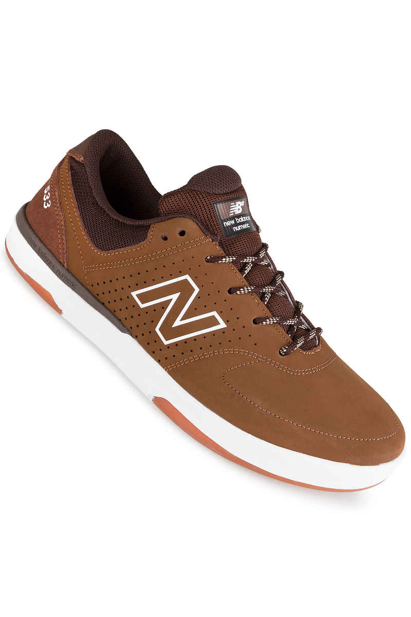 New Balance Numeric PJ Stratford 533 Suede Shoes (brown)