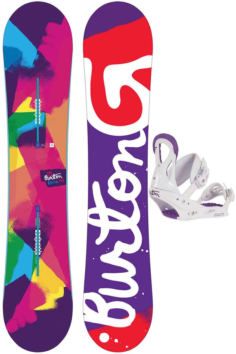 Burton Genie 142cm / Stiletto S Snowboardset 2016/17 women