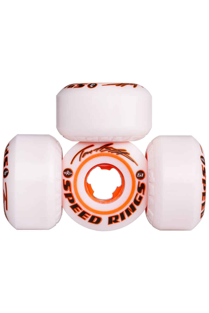 Ricta Asta Speedrings 51mm Rueda (white orange) Pack de 4