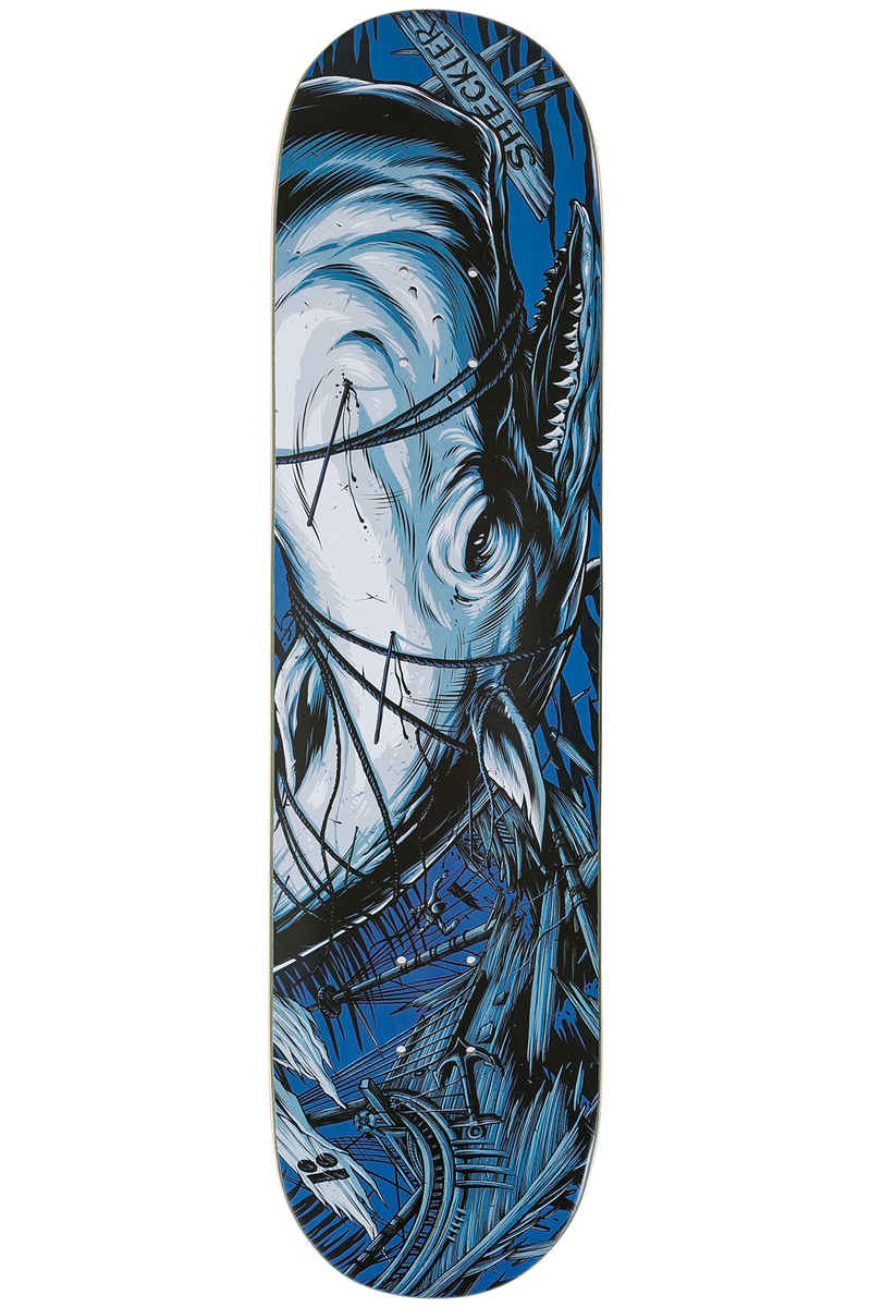 "Plan B Sheckler White Whale 7.75"" Deck (blue)"