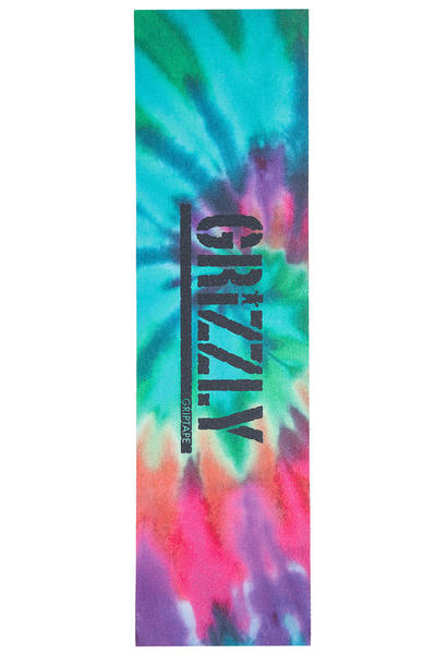 Grizzly Reverse Stamp Griptape (tie dye)