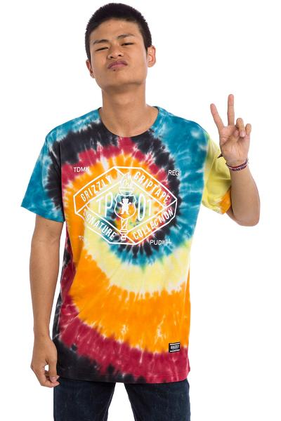 Grizzly Torch TP01 Label T-Shirt (tie dye)