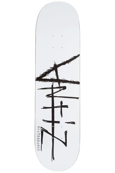 """Antiz Skateboards Script Logo 8.375"""" Planche Skate (white)"""