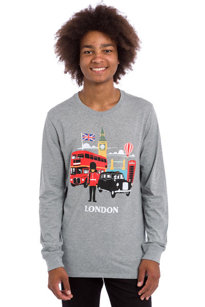 Nike SB x Skate Mental London Longsleeve (dark grey heather)