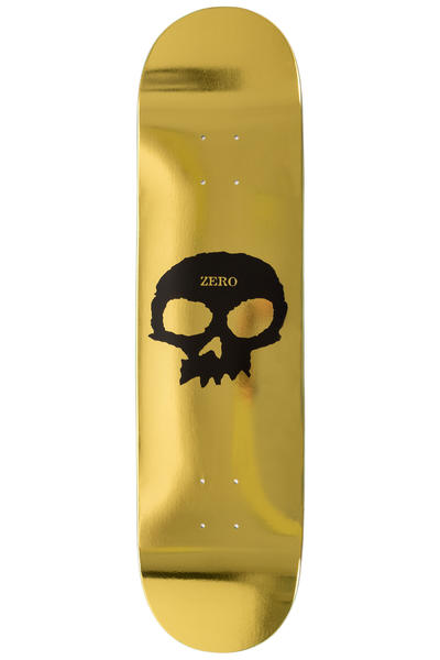 "Zero Single Skull Foil 8.125"" Deck (gold)"