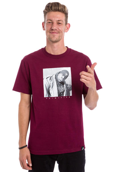 Primitive x Biggie Raiders Camiseta (burgundy)