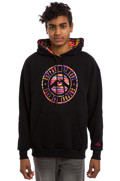 Love Stamped Logo Tribe Hoodie (black)