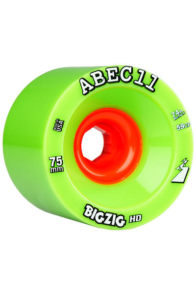ABEC 11 Reflex Big Zig HD 75mm 74A Rueda (green) Pack de 4