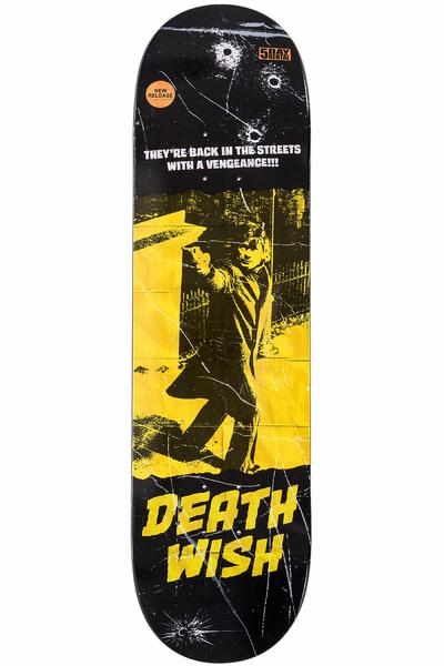 "Deathwish Team VHS Wasteland 8.5"" Deck (black yellow)"