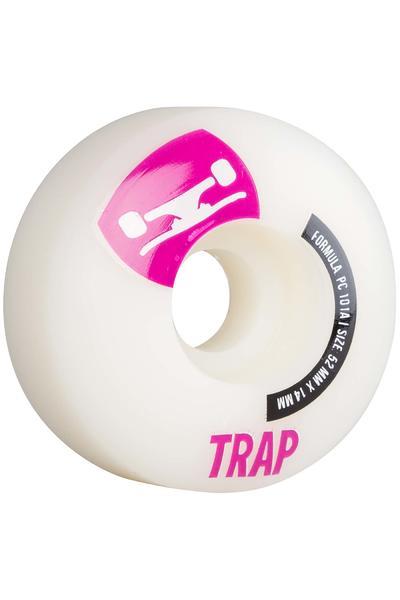 Trap Skateboards Crossbreed 52mm Wheel (white purple) 4 Pack
