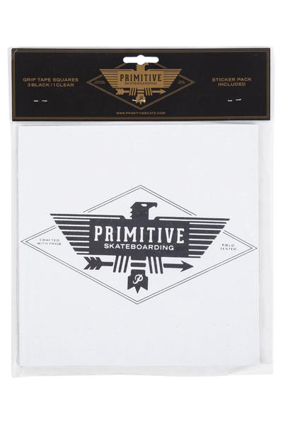 Primitive Four Block Griptape (black clear)