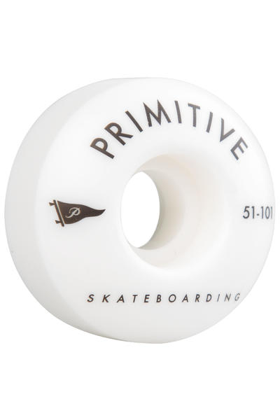 Primitive Team Pennant Arch 51mm Rollen (white) 4er Pack