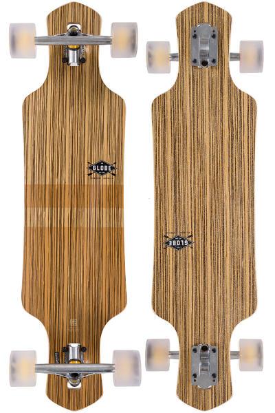 "Globe Geminon 35"" (88,9cm) Komplett-Longboard (zebrawood chocolate)"