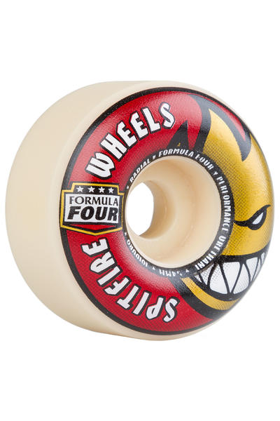 Spitfire Formula Four Radials 54mm Wheel (white red) 4 Pack