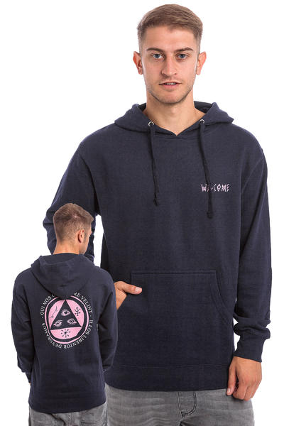 Welcome Latin Talisman Midweight sweat à capuche (navy pink)