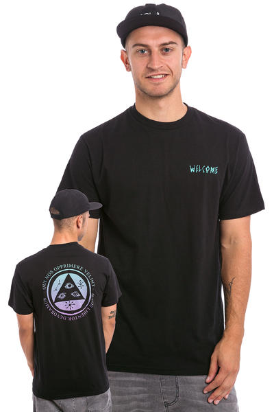 Welcome Latin Talisman Camiseta (black teal lavender)