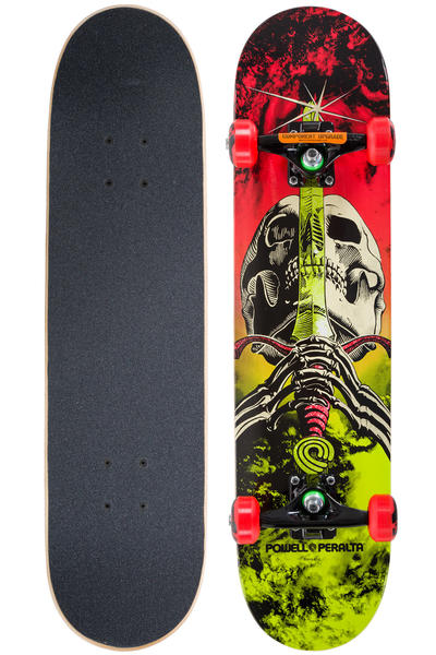 "Powell-Peralta Skull & Sword Storm 7.5"" Complete-Board (red lime)"