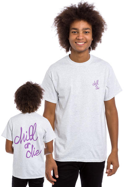 CHILL OR DIE OG Logo T-Shirt (grey purple)