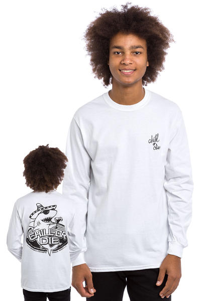 CHILL OR DIE Sharky Longsleeve (white black)