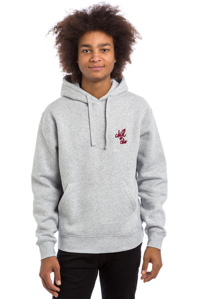 CHILL OR DIE OG Logo Broderie sweat à capuche (grey burgundy)