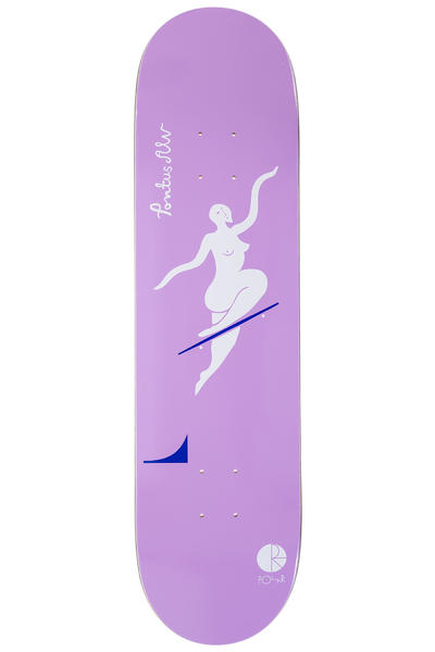 "Polar Skateboards Alv No Complies Forever 8.125"" Deck (lavender)"