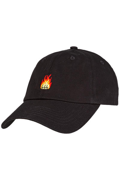 Wasted 666 Flame 6 Panel Casquette (black)