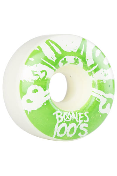 Bones 100's-OG #15 52mm Rollen (white green) 4er Pack