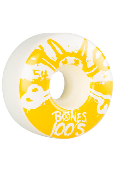 Bones 100's-OG #15 54mm Rollen (white yellow) 4er Pack